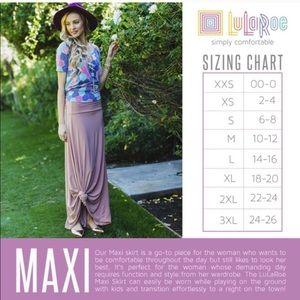 LuLaRoe Skirts - Black LuLaRoe Maxi Skirt/Dress